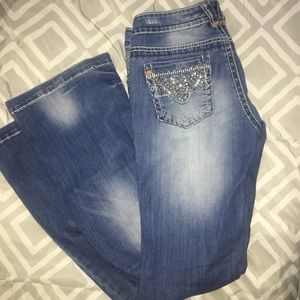 Vanity Embellished & Distressed Jeans